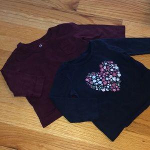 GAP | 4 for $10 |  2 Long Sleeve Shirts | 6-12M